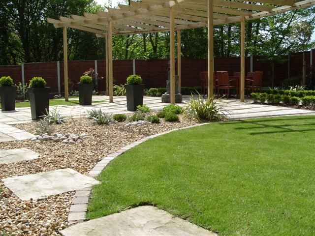 Garden design ideas low maintenance google search for Large patio design ideas