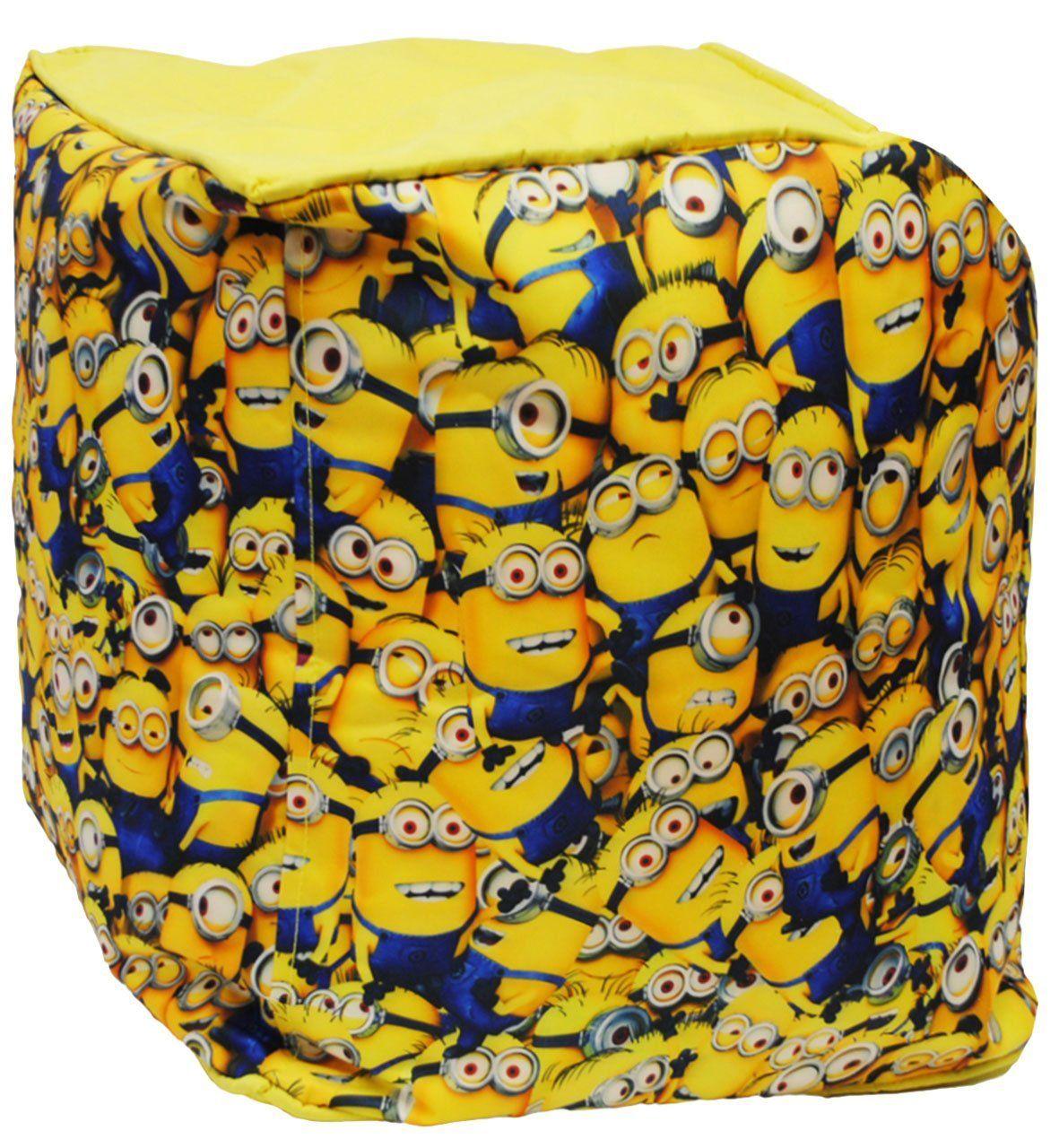 🍌 Minions Kinderzimmer: Sitzsack / Hocker - \