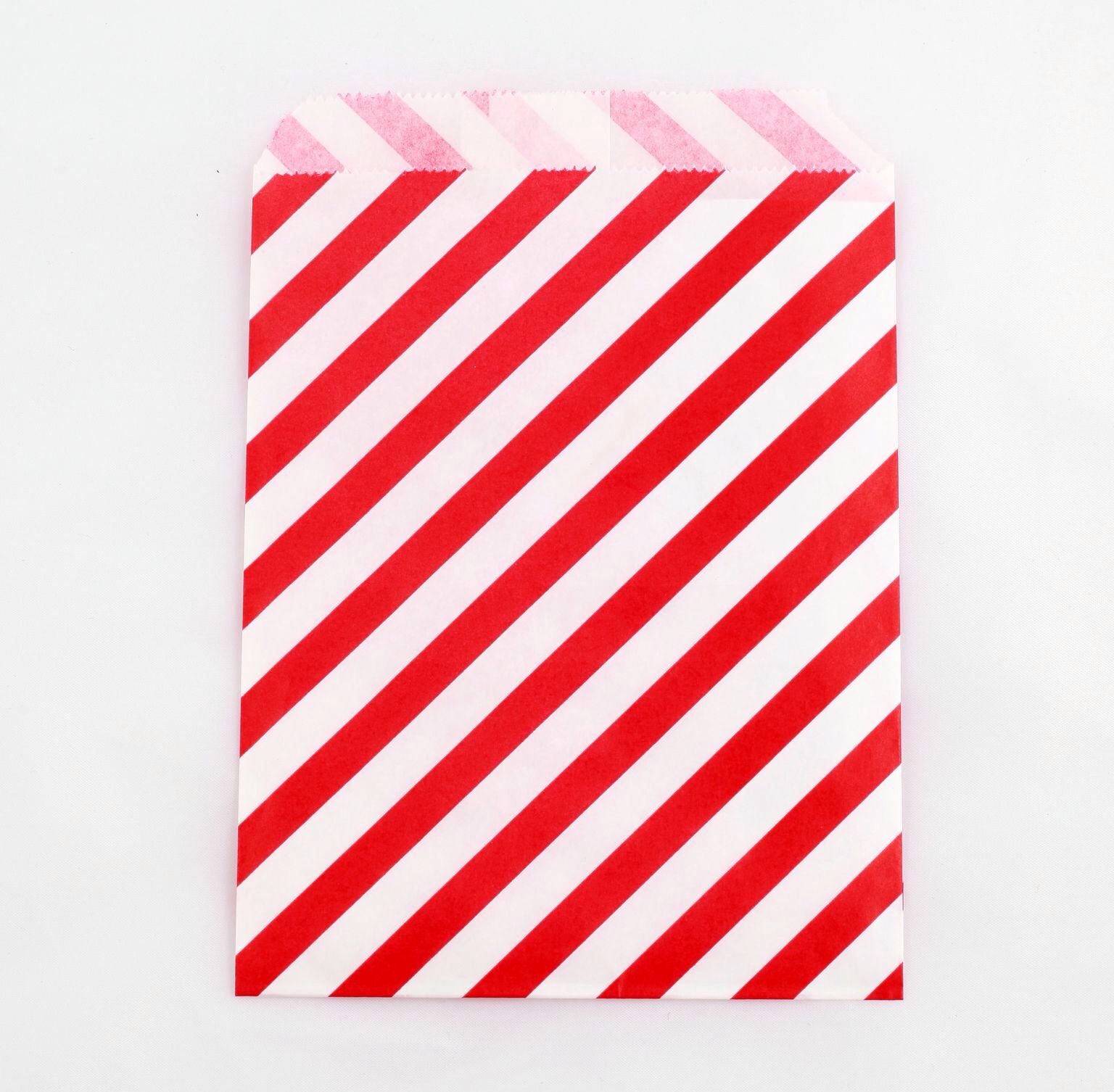 Party Kitsch red striped party bags