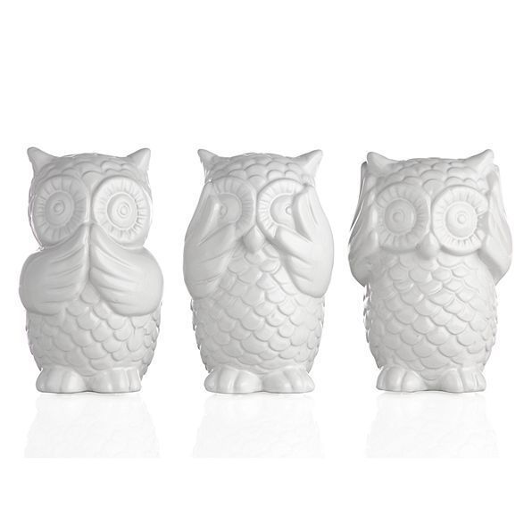 3 Wise Owls By Zgallerie Owl Home Decor Bookcase Decor Owl Decor
