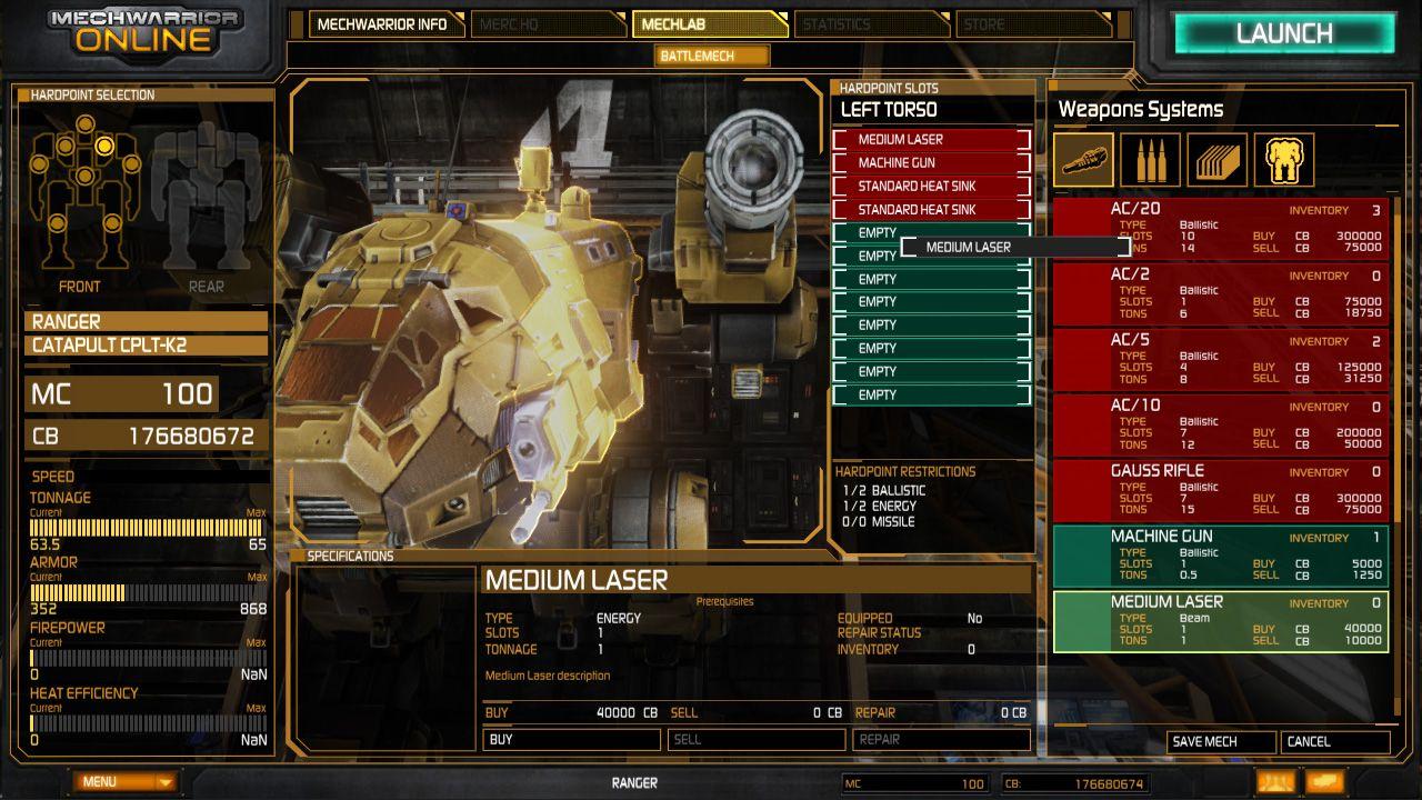 Mechwarrior Online Media Weapon Systems Mech Media