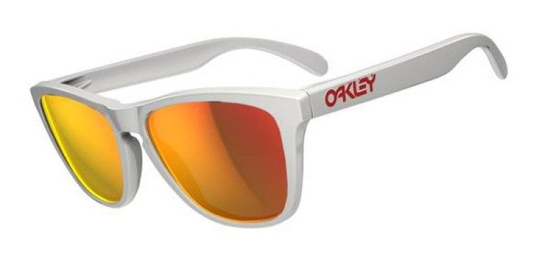 72f4c9035b Oakley Sunglasses Frogskins Polished White Ruby Iridium OO9013 24-307 is  designed for men and the frame is white. This style has a large - 55mm -  lens ...
