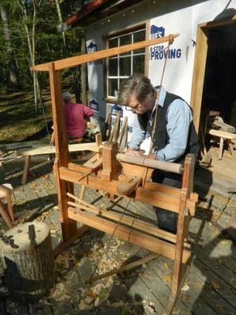 The Joy of Wood: Love that Double Spring Pole Lathe!