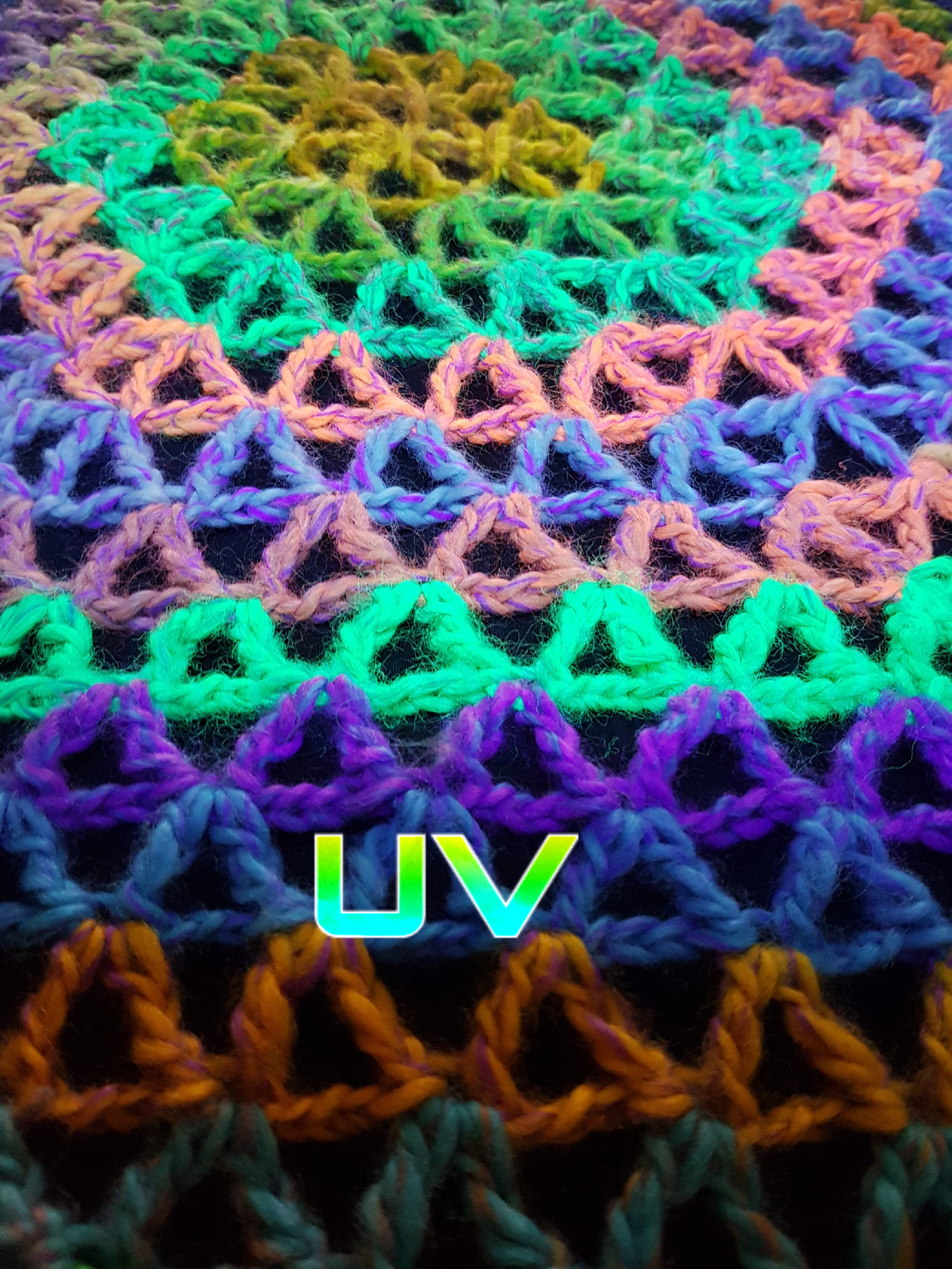 Flower Of Life Sacred Geometry Crochet Rainbow Throw Shawl DMT ...