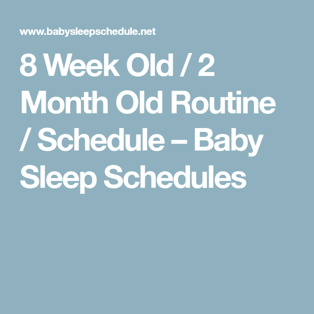 8 Week Old / 2 Month Old Routine / Schedule – Baby Sleep ...