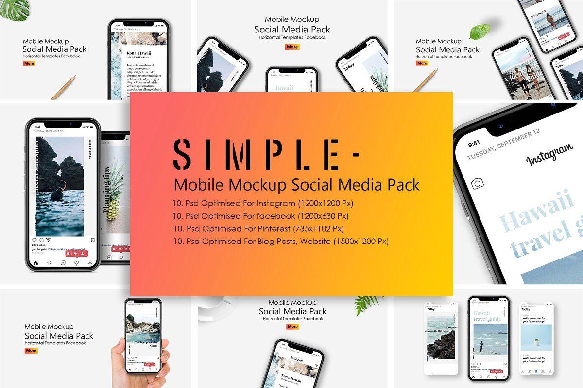Iphone X Mockup Social Media Pack Social Media Pack Instagram Mockup Web Mockup