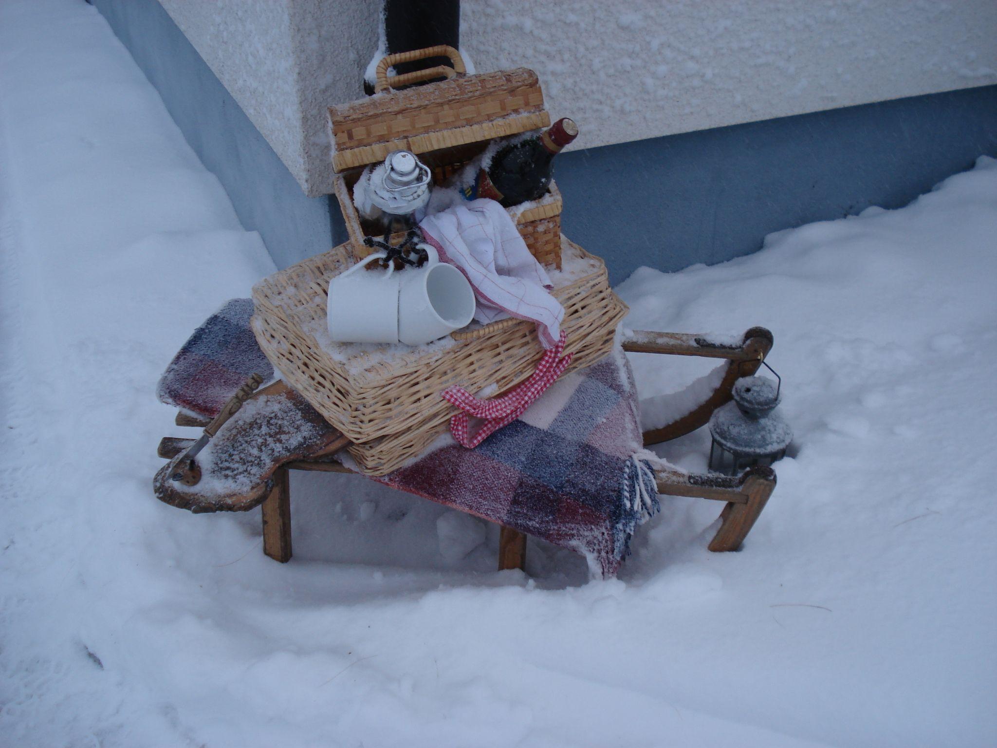 mit Schnee