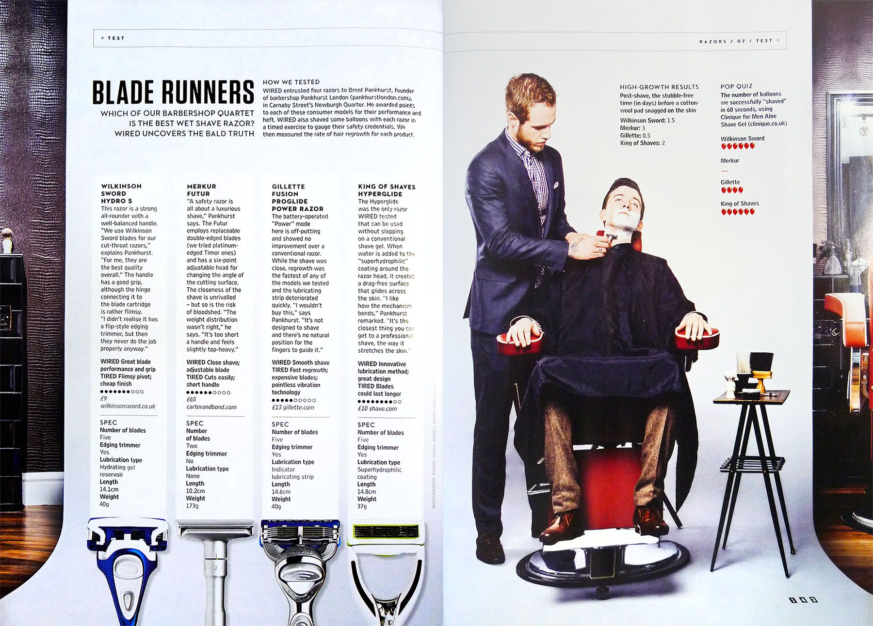 "The July issue of Wired magazine in the UK ran a ""Best Wet Shave ..."