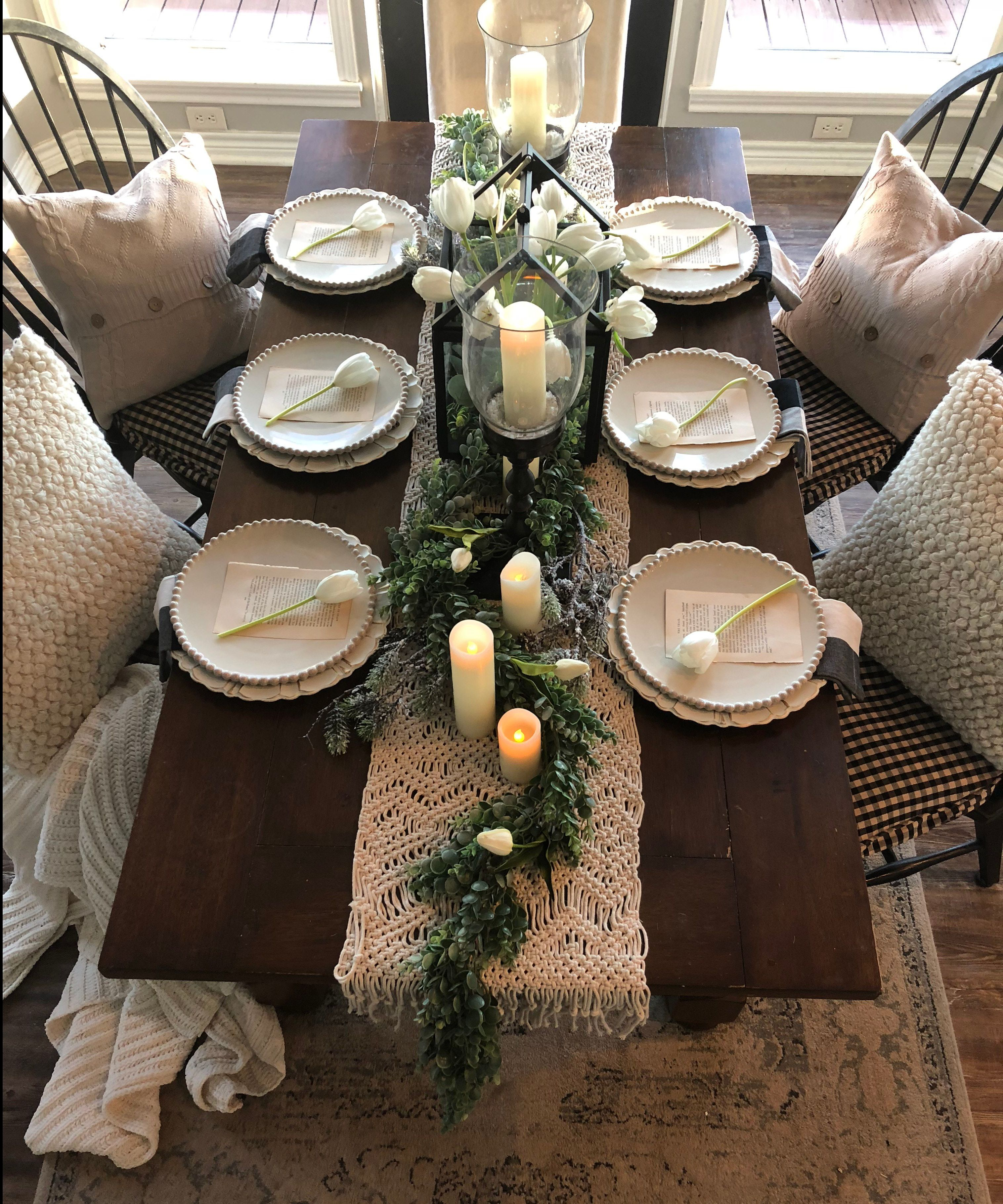 Neutral Winter Home Tour Farmhouse Dining Dining Room Table