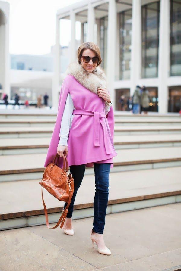 Adoro e ficava tão bem para me aquecer nestes dias frios!!!  vintage pink cape