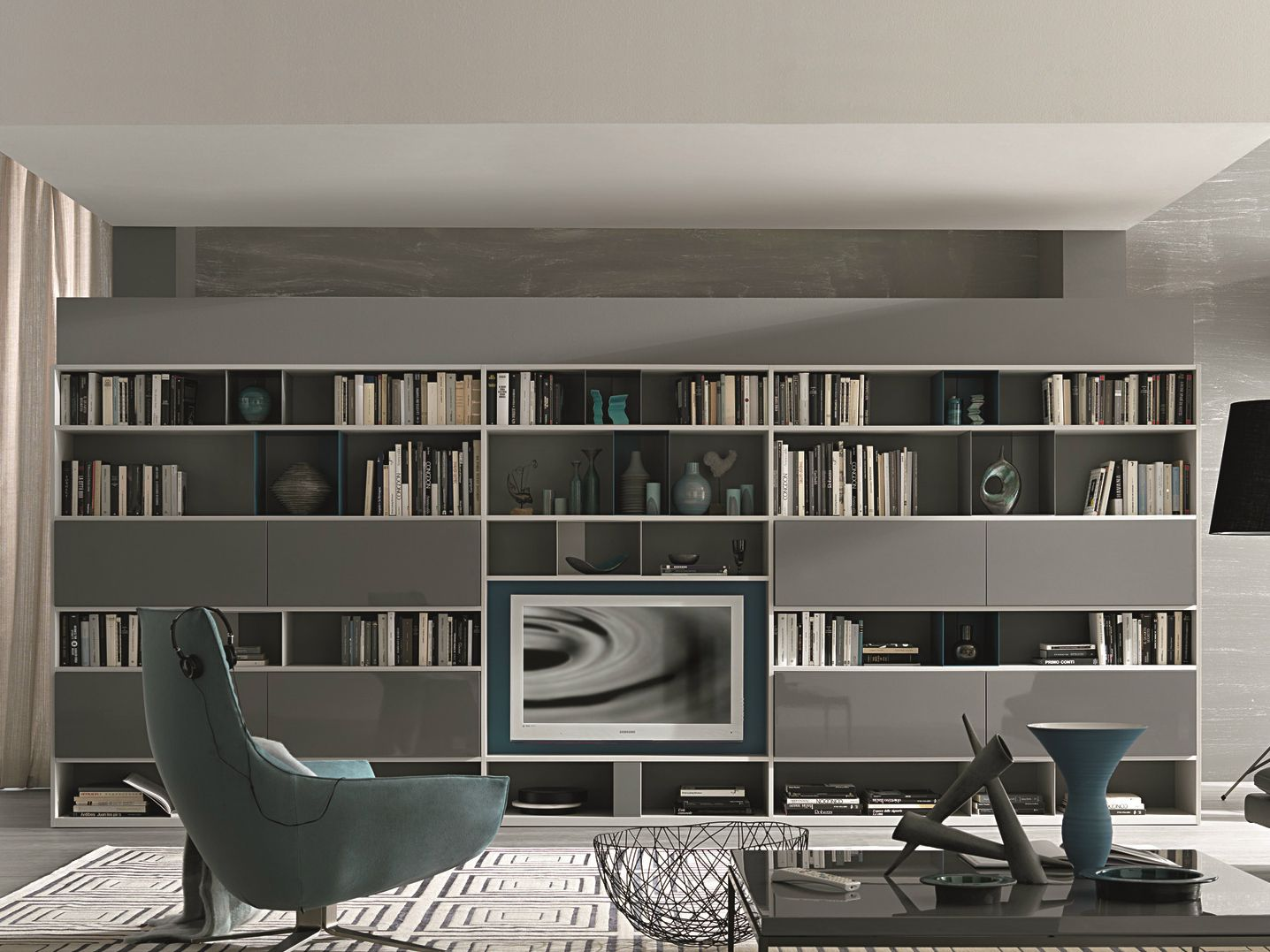 Mobili Misuraemme Sectional Lacquered Storage Wall Urban Atelier Collection By