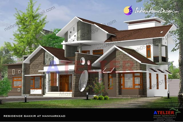 Foyer Plan Kerala : Modern style kerala home design in sq ft