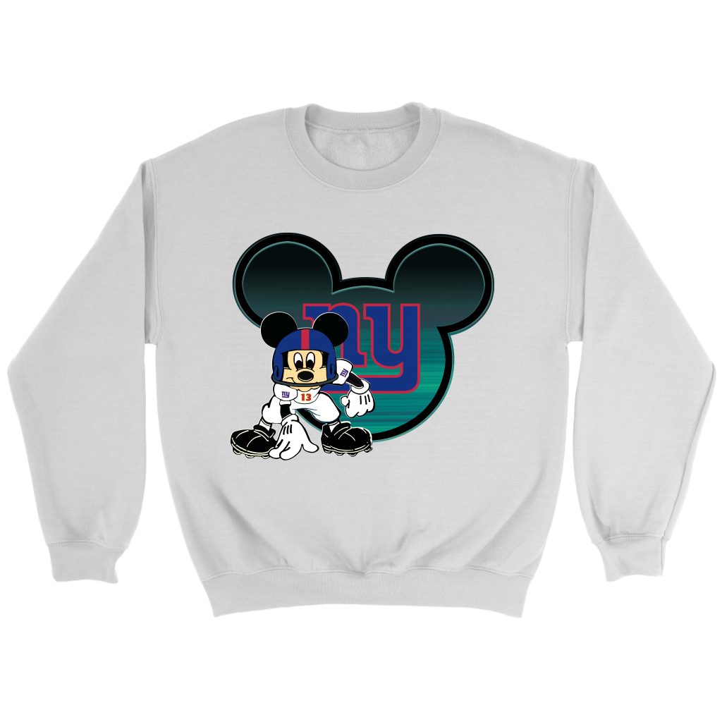 cfb88b19 New York Giants Mickey Mouse Football Sweatshirt NFL. Your favorite Football  team, New York Giants mixed Mickey Mouse, this shirt is cute and  attractive, ...