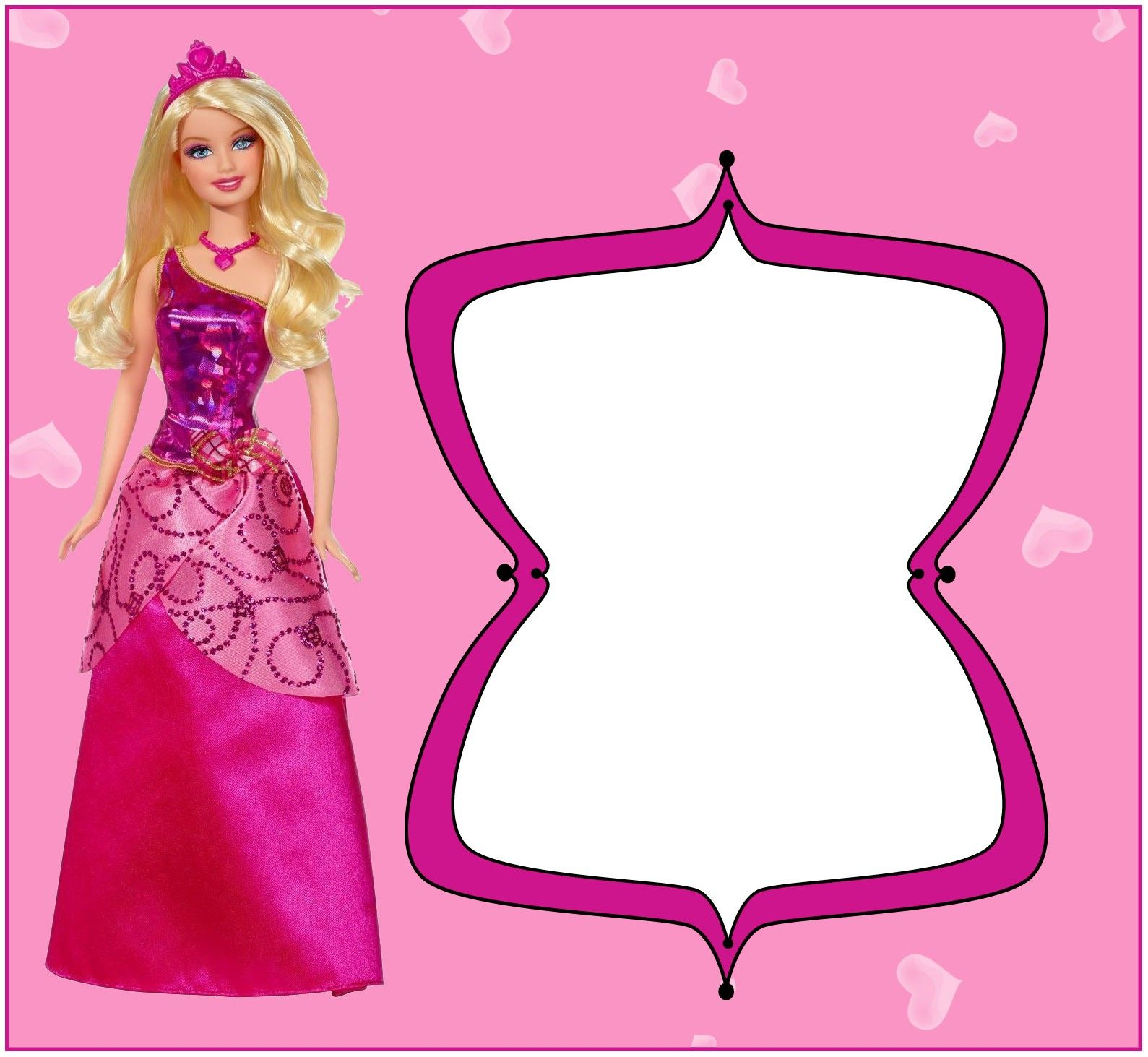 Barbie Invitation Design  Barbie invitations, Barbie birthday