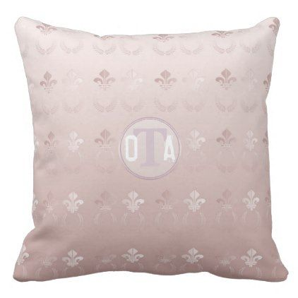#elegant - #Elegant Fleur-de-lis Laurel Pink Monogram Throw Pillow