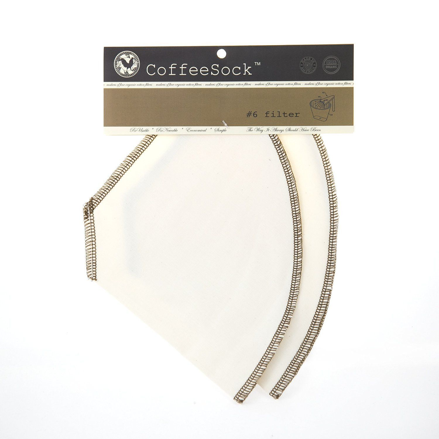 Coffeesock 6 Reusable Filters, 2pack Coffee filters