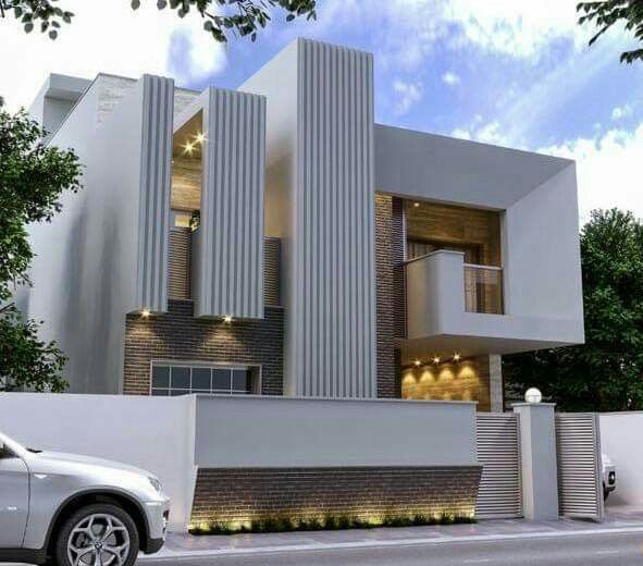 Boundary walls modern house design bed room exterior bungalow architecture also pin by sushma solanki on in plans rh pinterest