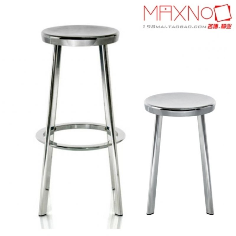 Kitchen Stools Ikea Remodeling Calgary Nordic Stainless Steel Metal Bar Stool Ktv Hotel For At New York