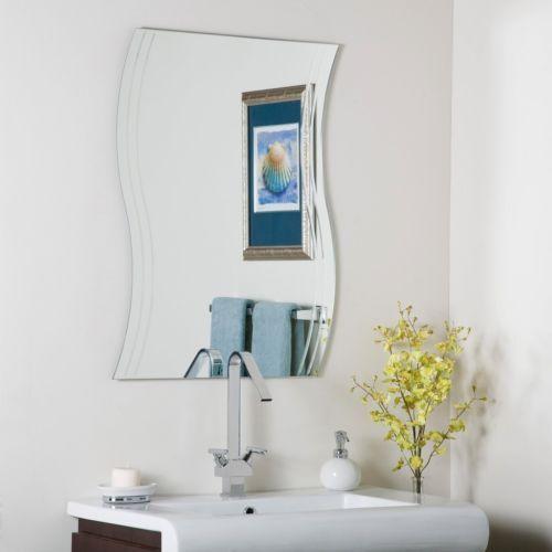 Wave Bathroom Mirrors Frameless Wall Mirror Hall Designer Ebay