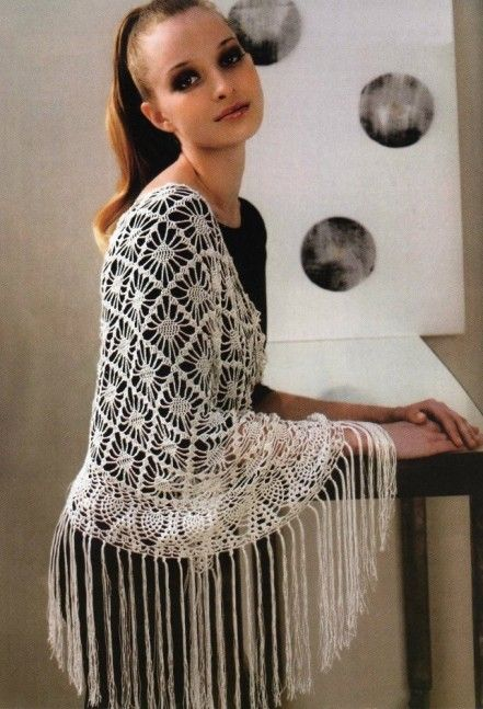 Almost 30 Crocheted Lace Shawls With Pattern Diagrams Only