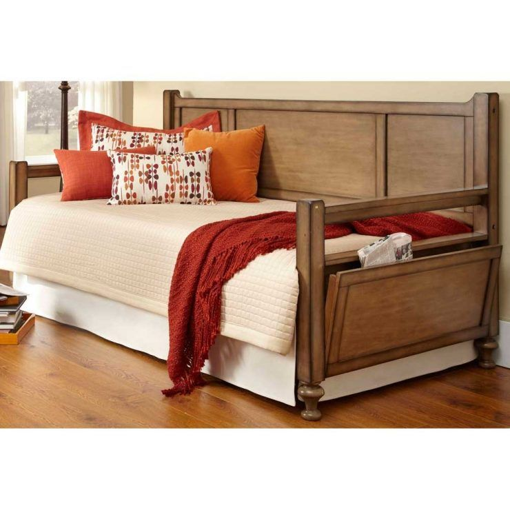 Interesting Solid Wood Daybed With Beautiful Cushions