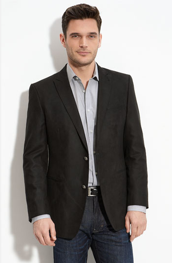 The perfect business casual look- dark jeans paired with button down shirt u0026 blazer   Male ...