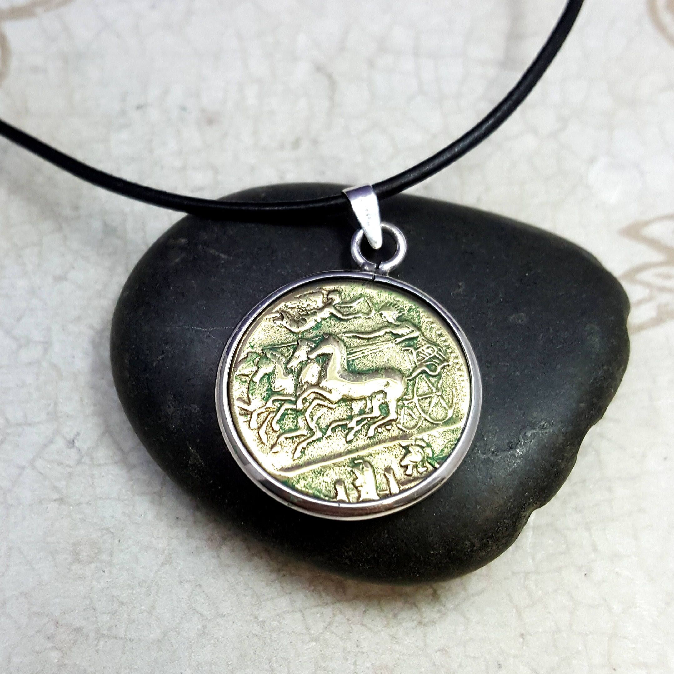 coin gold the ancient bc hemidrachm necklace products authentic and sterling greek pendant lion