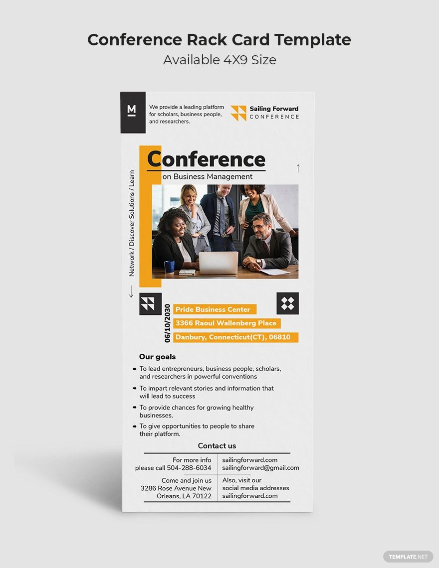 Conference Rack Card Template Illustrator Indesign Word Apple Pages Psd Publisher Template Net Rack Card Templates Rack Card Card Template Rack card template microsoft word