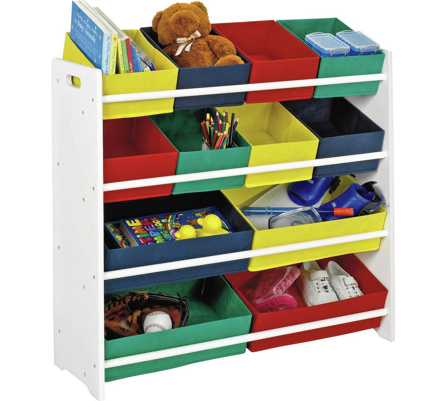 Buy argos home 4 tier kids basket storage unit with bins