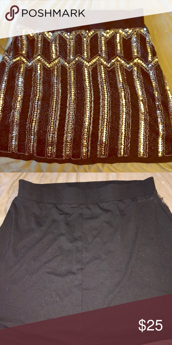 8dc6275e23764 Torrid Black sequin skirt Black cotton stretchy sequins skirt (sequins only  on front) torrid Skirts Mini