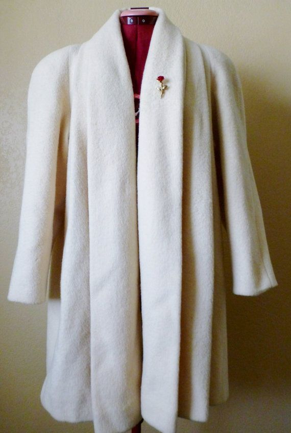 vintage cream coat union made by june22nd on Etsy, $35.00