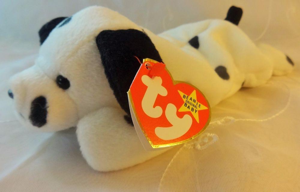 Ty Beanie Babies DOTTY Dalmatian Dog With Error CHIP Tush