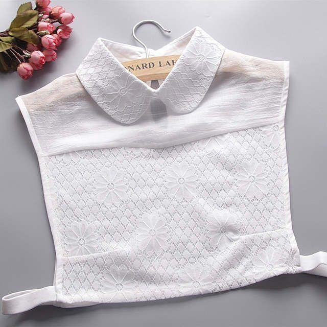 Womens False Collar Choker Halskette abnehmbare Shirt Lace Floral