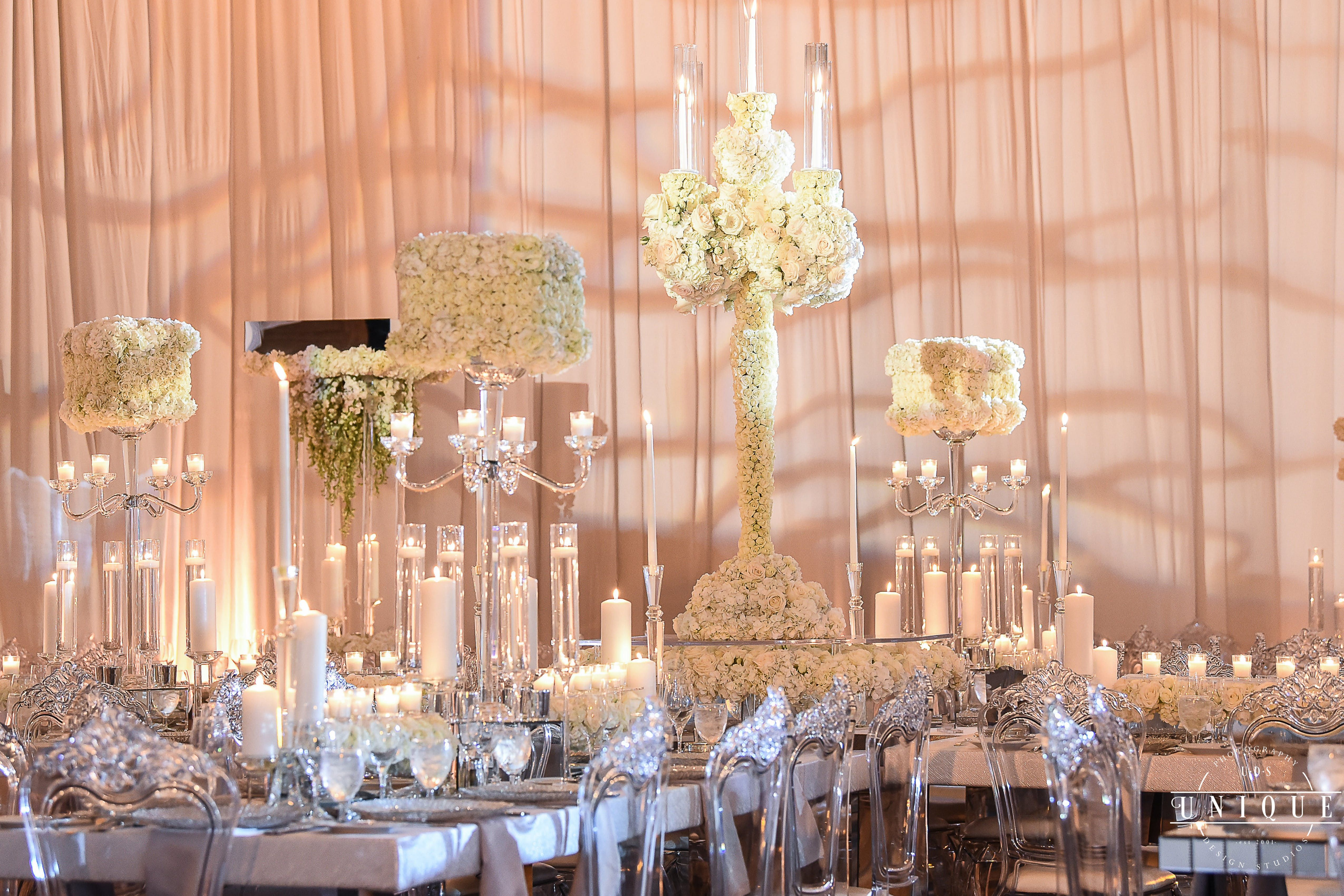 White Pink And Green Dreamy Wedding Party Rentals And Decor By Gilded Group Decor Miami Event Design Miami Wedding Decorations Event Decor Floral Wedding