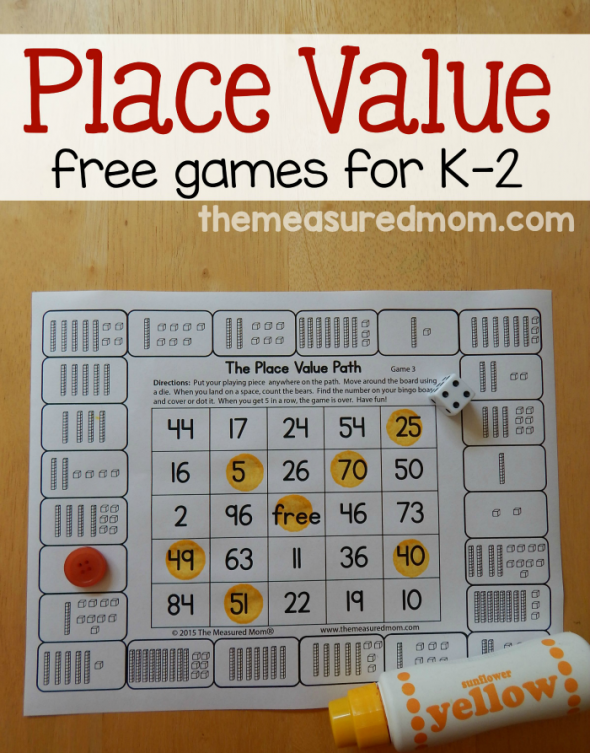 Free Place Value Games For K 2 Best Of The Measured Mom