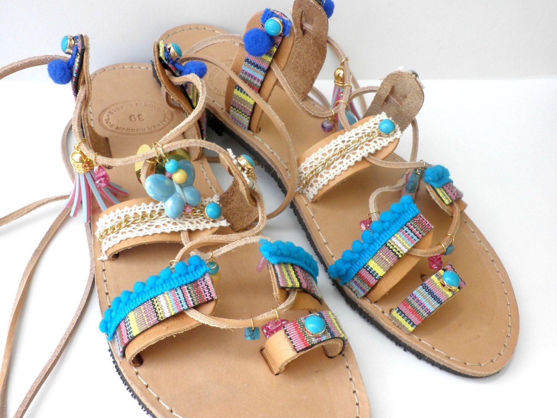 Womens sandals etsy - Boho Lace Up Sandals Gladiator Sandals Womens Leather Sandals Summer Shoes Beach