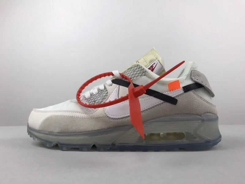 new style a6d32 b9ae3 2018 Official Men Nike Air Max 90 Off White | OFF White X ...