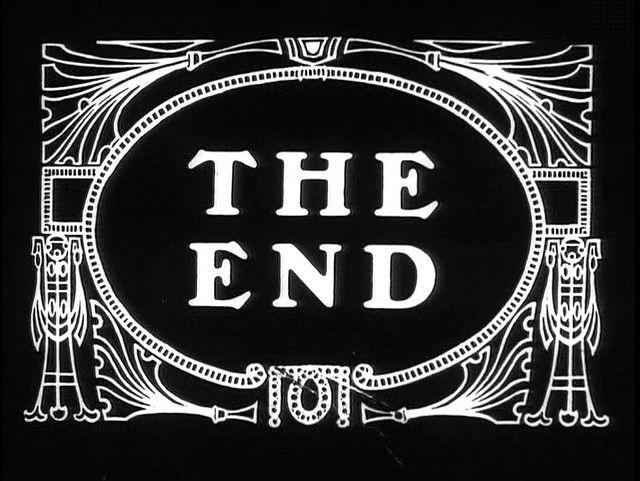 The End Silent Film Title Card Text Frame