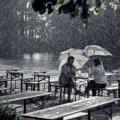 Fabulous Regen im Biergarten im Englischen Garten Rain again Biergarden Seehaus M nchen Munich