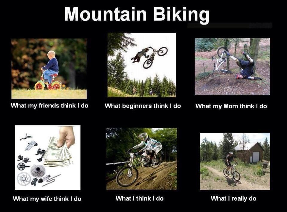 Mountain Bike Funny Cycling Benefits Mountain Biking Bike Ride
