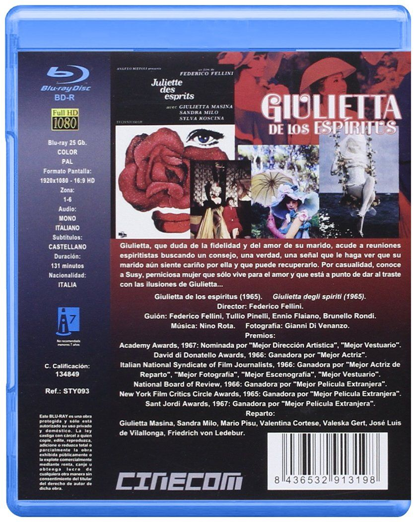 Giulietta De Los Esp ªritus V O 1965 Blu Ray Los Esp