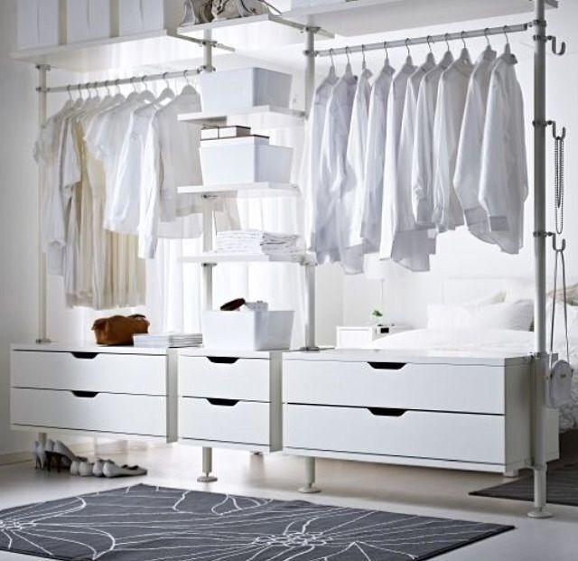 Ikea Hacks For Wardrobe And Makeup Organization Schlafzimmer Schrank Gunstige Wohnzimmer Und Offene Garderobe