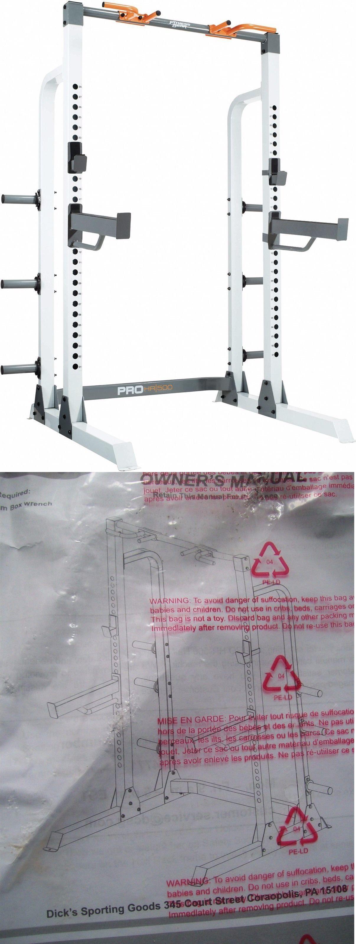 Home Gyms 158923 New Fitness Gear Pro Half Rack Ste00101 P U Li