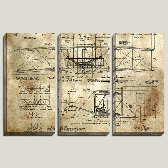 As seen in gq 1902 wright brothers flyer blueprint canvas art 1902 wright brothers flyer airplane blueprint canvas art pilot boys malvernweather Images