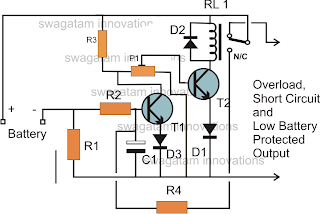 low battery cut off and overload protection circuit circuit rh pinterest com
