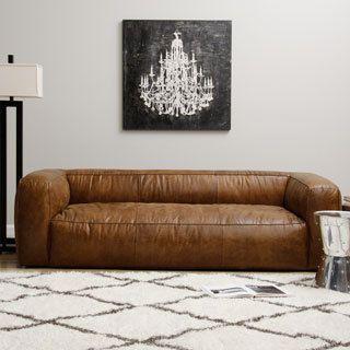 Diva Leather Outback Bridle Sofa Italian Leather Sofa Modern