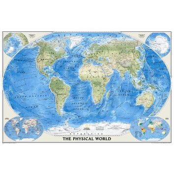 World physical wall map wall maps walls and bedrooms oversized world map gumiabroncs Choice Image