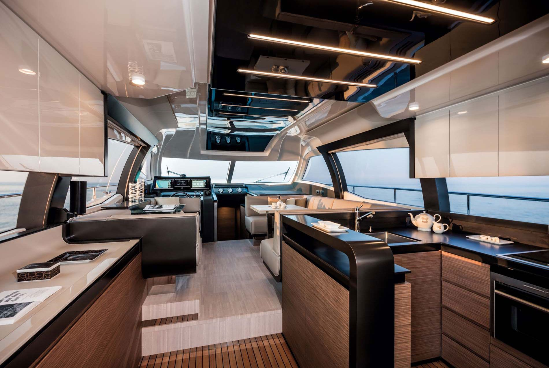Ferretti yacht 550 stunning interior design boats luxury