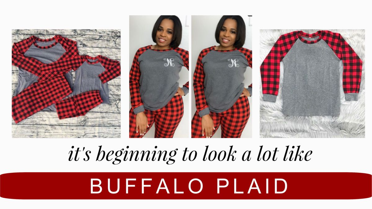 Buffalo Plaid Christmas Pajamas Buffalo plaid pajamas
