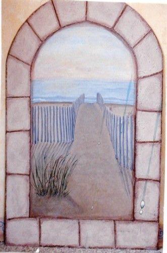 """Window"" Beach Mural"